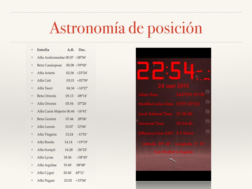 Astronomía de posición fotos.014